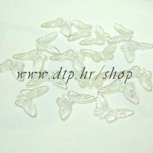 110135-2 leptiri 4,5x2,5 cm prozirni STIGLO