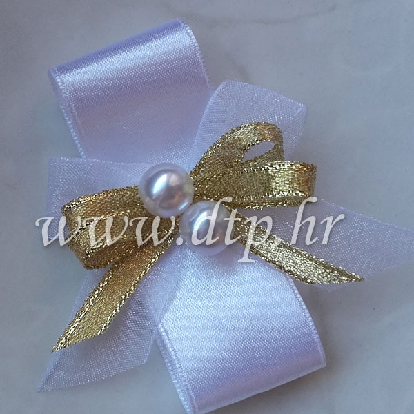 Rever narukvica za vjenčanje bijelo zlatna boja s kopčom