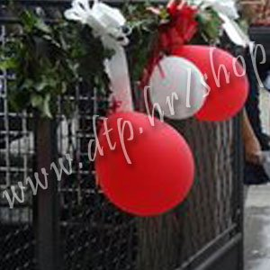 Balon pastel 50 kom crveni 28cm