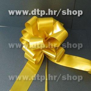 270036 mašna (na potez) 3cm pastel zlatna