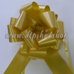 270035 mašna (na potez) 5cm pastel zlatna