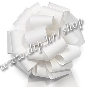 270039 mašna (na potez) 5cm bijela