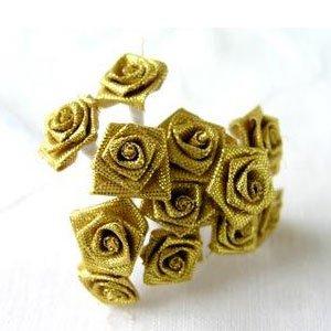 20028031-2 Satenska ružica zlatna 12kom