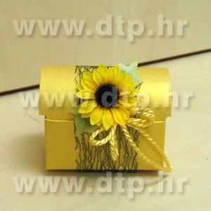 Pozivnica ili konfet Suncokret 05 s tiskom