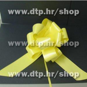270124 mašna (na potez) 3cm svj. žuta