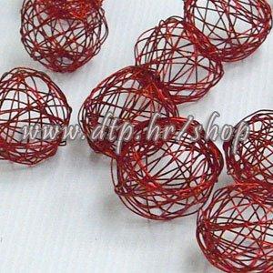 425213 Žičane kuglice 3cm/24kom crvene