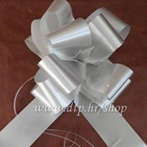 270048 mašna (na potez) 5cm srebrna