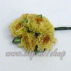 0450162-3 ružica 6 kom zlatno-smeđe