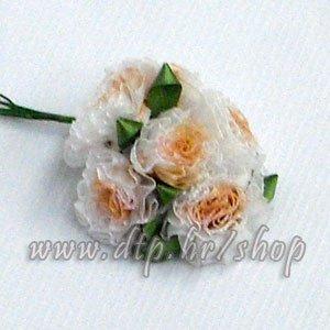 0450162-2 ružica 6 kom bijelo-breskva