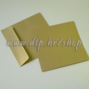 Kuverte zlatne 16x16, 110g, sjajne