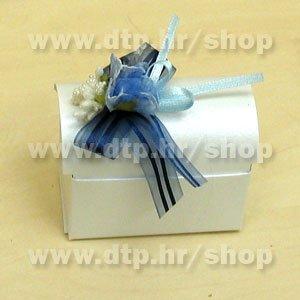 01 Pozivnica ili konfet Plava s tiskom