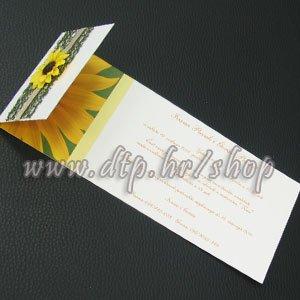 pz03611 Pozivnica s tiskom i kuvertom