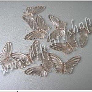 110135-3 leptiri 4,5x2,5 cm ambra STIGLO