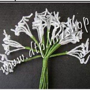 Kovrdža frost mini - 8kom/bijela