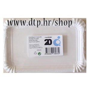 18033 papirnati tanjuri 13x20cm 20kom