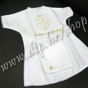 001-1 Krsna košuljica + maramica - zlatna