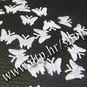 480013 Leptiri za dekoraciju saten 72kom bijeli
