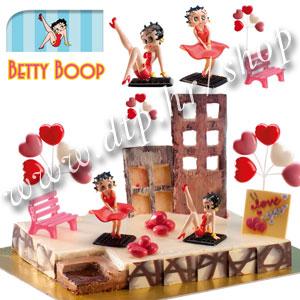 DK350228 Set plastični za dekoriranje torti Betty Boop