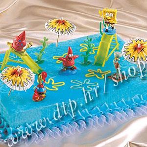 DK350019 Set plastični za dekoriranje torti Spužva Bob
