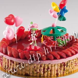 DK350025 Set plastični za dekoriranje torti Jagodica Bobica