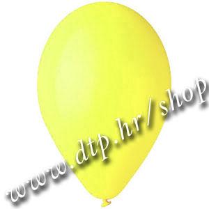 Balon pastel svijetlo žuti 32cm
