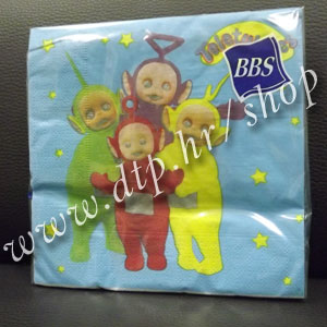 2524 Teletubbies salvete 20/1 33x33cm