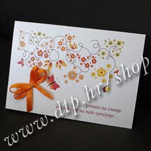 0000pz01013 Pozivnica ili zahvalnica s tiskom