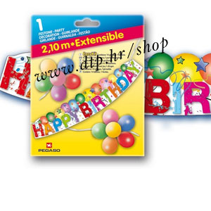 104570 HAPPY BIRTHDAY 14/1 BALONI + GIRLANDA 2,1m
