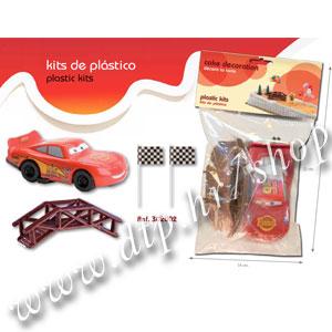 Set plastični za ukrašavanje torte Munjeviti Jurić DK302002 (Car