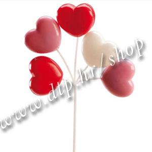 DK350022 Ukras srca na štapiću 17 cm
