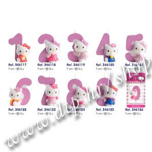 DK346117-126 Rođendanski broj Hello Kitty br.0