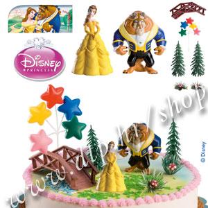 DK350215 Set plastični za dekoriranje torti Ljepotica i zvijer