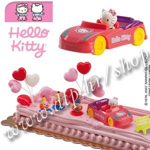 DK350029 Set plastični za dekoriranje torti Hello Kitty u autu