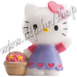 DK346010 Rođendanska svjećica Hello Kitty 6cm/plava