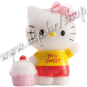 DK346010 Rođendanska svjećica Hello Kitty 6cm/žuta