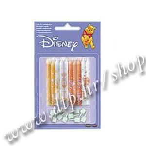 DK346083 Rođendanske svjećice Winnie 10/1 6,5cm