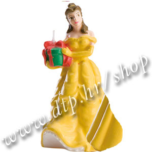 DK346114-1 Rođendanska svjećica Disney Ljepotica 8cm