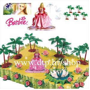 DK350169 Set za tortu Barbie 7cm PVC