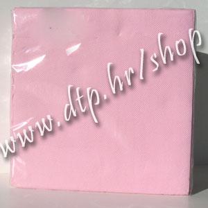 Salvete svjetlo roza 38x38 soft (40 kom) š578