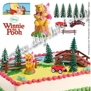 DK350214 Set plastični za dekoriranje torti Winnie the Pooh