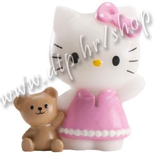 DK346010 Rođendanska svjećica Hello Kitty 6cm/roza