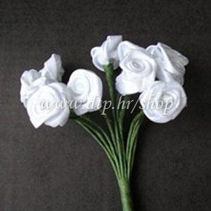 385450 ružica satenska, bijela 20mm, set 144kom