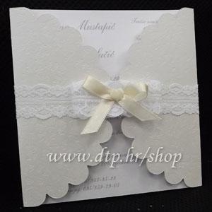 Preklopna pozivnica za vjenčanje pz04514 s tiskom