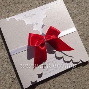Preklopna pozivnica za vjenčanje pz04614 s tiskom