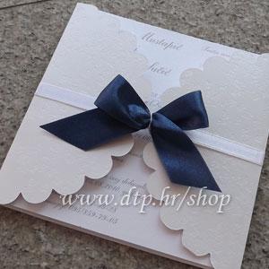 00 Preklopna pozivnica za vjenčanje pz04714 s tiskom