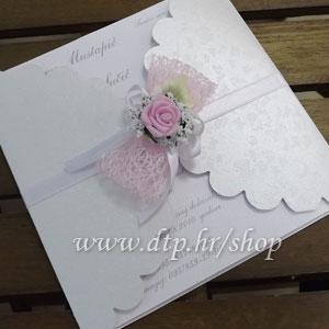 Preklopna pozivnica za vjenčanje pz04814 s tiskom