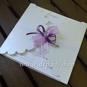 Preklopna pozivnica za vjenčanje pz05614 s tiskom