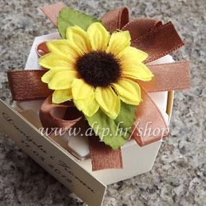00 pg01514 Pokloni (konfete) Suncokret za goste s tiskom