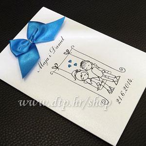 0000pz06314 Pozivnica ili zahvalnica za vjenčanje s tiskom