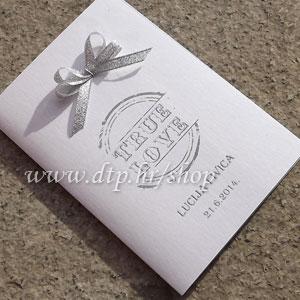 0000pz06414 Pozivnica ili zahvalnica za vjenčanje s tiskom